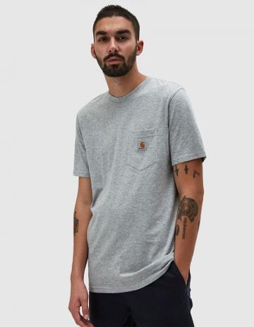 Carhartt Wip S/s Pocket T-shirt In Grey