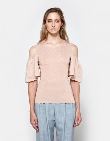 Ganni Romilly Top In Cloud Pink