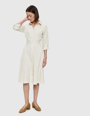 Farrow Paulie Midi Dress In Taupe