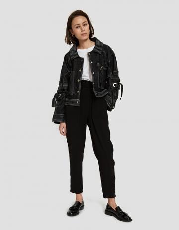 Farrow Wren Jacket In Black Denim