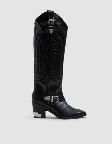 Toga Pulla Western Boot In Black
