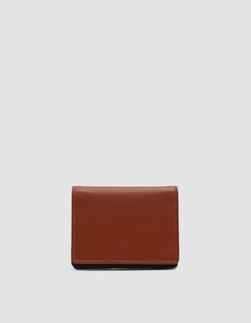 Dries Van Noten Leather Bifold Cardholder