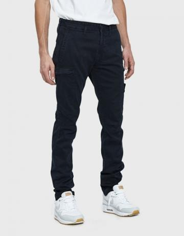 Stone Island Garment Dyed Pant In Navy Blue