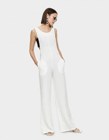 Farrow Senn Jumpsuit In White