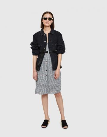 Farrow Zana Midi Dress In Black