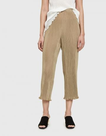 Lauren Manoogian Accordion Pants In Khaki