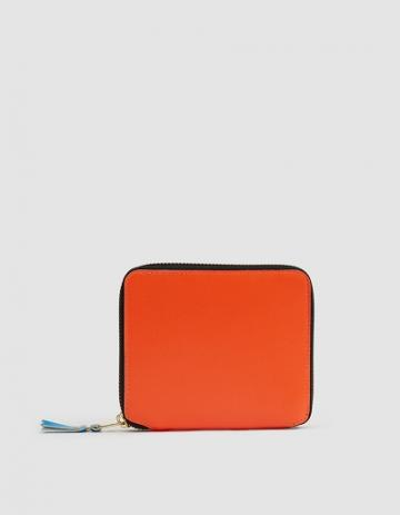 Comme Des Gar Ons Wallet Super Flou Leather Line Sa2100sf Wallet In Orange