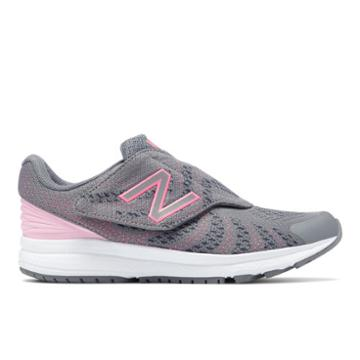 New Balance Hook And Loop Fuelcore Rush V3 Kids' Pre-school Running Shoes - Grey/pink (kvrusr9p)