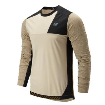 New Balance 93256 Men's Q Speed Run Crew Pullover - Tan/black (mt93256bh)