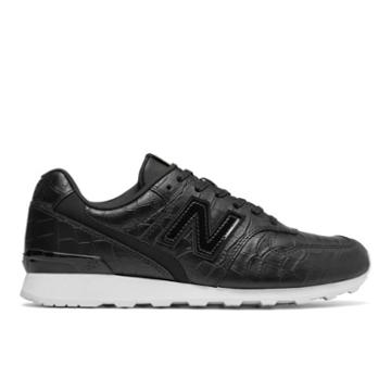New Balance Leather 696 Women's Running Classics Shoes - Black/white (wl696crb)