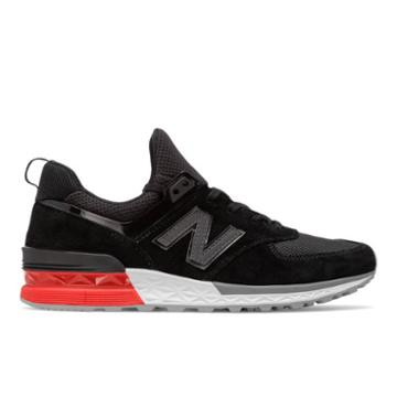 New Balance 574 Sport Men's Sport Style Shoes - Grey/black (ms574ab)