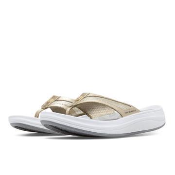 New Balance Revive Thong Women's Flip Flops Shoes - White/gold (w6028wgd)