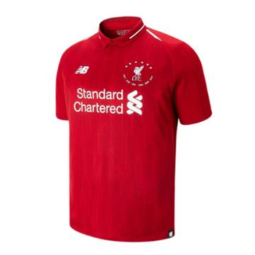 New Balance 930501 Men's Lfc 6 Times 18/19 Home Ss Jersey - Red/white (mt930501hme)