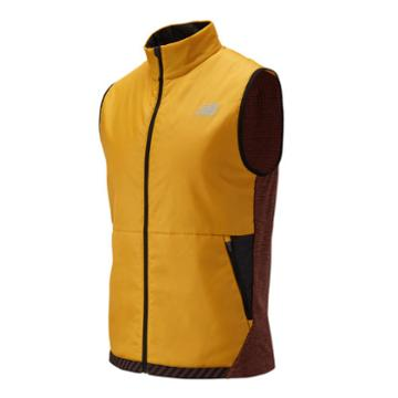 New Balance 01274 Men's Nb Heat Grid Vest - Yellow/red/black (mv01274vgl)