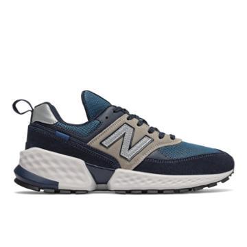 New Balance 574 Men's Sport Style Shoes - Black/blue (ms574acj)