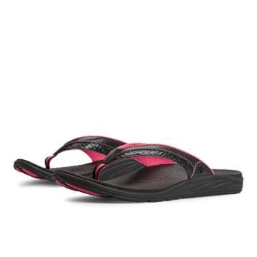 New Balance Revitalign Sustain Thong Women's Flip Flops Shoes - Black, Exuberant Pink (w6056bki)