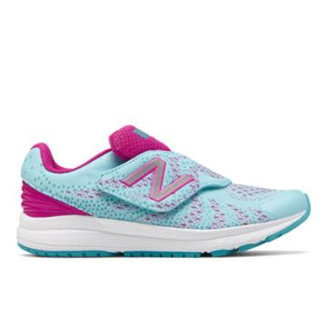 New Balance Hook And Loop Fuelcore Rush V3 Kids' Pre-school Running Shoes - Blue/pink (kvrusv1p)