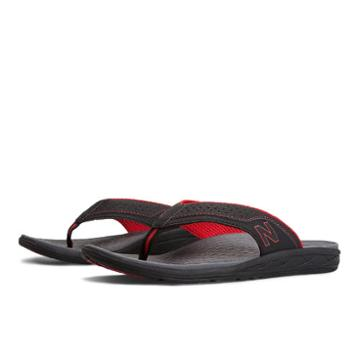 New Balance Revitalign Conquest Thong Men's Flip Flops Shoes - Black, Red (m6042brd)