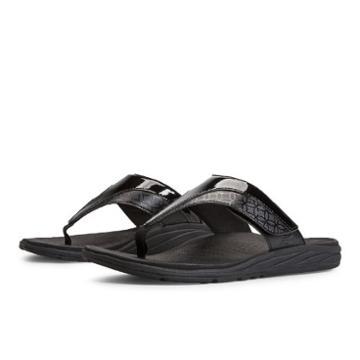 New Balance Revitalign Thrive Adjustable T-strap Women's Flip Flops Shoes - Black (w6057bk)