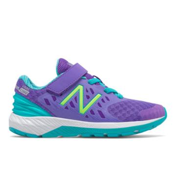 New Balance Hook And Loop Fuelcore Urge V2 Kids' Pre-school Running Shoes - Purple/green (kvurgppp)