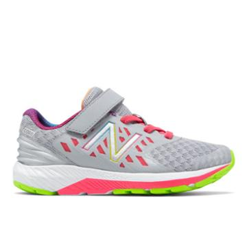 New Balance Hook And Loop Fuelcore Urge V2 Kids' Pre-school Running Shoes - Grey/pink (kvurggsp)