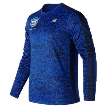 New Balance 73062 Men's United Nyc Half Training Accelerate Graphic Ls - Blue (mt73062ctrs)