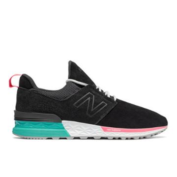 New Balance 574 Sport Men's Sport Style Shoes - Black/blue (ms574doa)