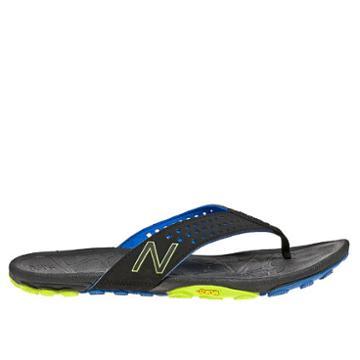 New Balance Minimus Vibram Thong Men's Flip Flops Shoes - Black, Blue, Yellow (m6031bkb)
