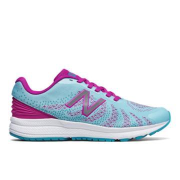 New Balance Fuelcore Rush V3 Kids Grade School Running Shoes - Blue/pink (kjrusv1g)