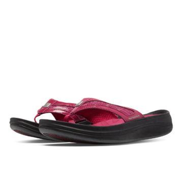 New Balance Revive Thong Women's Flip Flops Shoes - Black, Red (w6028brd)