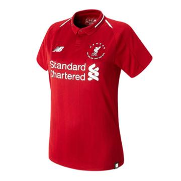 New Balance 930501 Women's Lfc 6 Times 18/19 Home Ss Jersey - Red/white (wt930501hme)