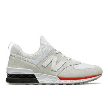 New Balance 574 Sport Men's Sport Style Shoes - Silver/white (ms574aw)