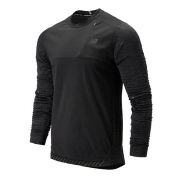 New Balance 93256 Men's Q Speed Run Crew Pullover - Grey (mt93256bkh)