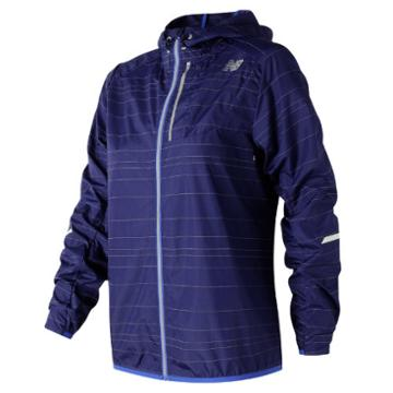 New Balance 71203 Women's Reflective Light Packable Jacket - Purple (wj71203tmp)