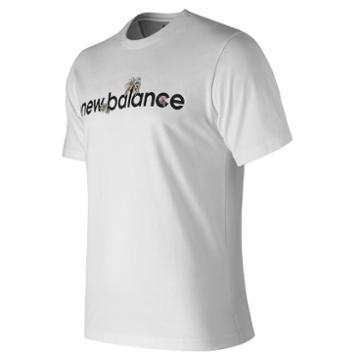 New Balance 91533 Men's Dark Jungle Linear Tee - (mt91533)