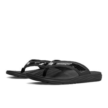 New Balance Revitalign Flourish Thong Women's Flip Flops Shoes - Black (w6046bk)