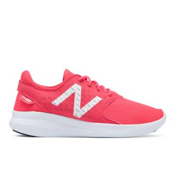 New Balance Fuelcore Coast V3 Kids Grade School Running Shoes - Pink/white (kjcstpwy)
