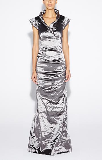 Nicole Miller Astor Techno Metal Gown - Ste