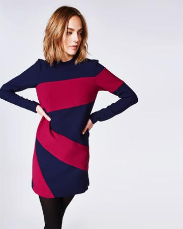 Nicole Miller Colorblocked Dress