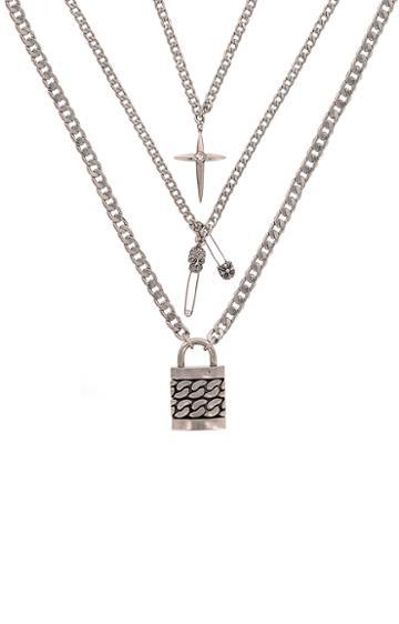 Nicole Miller Triple Charm Necklace