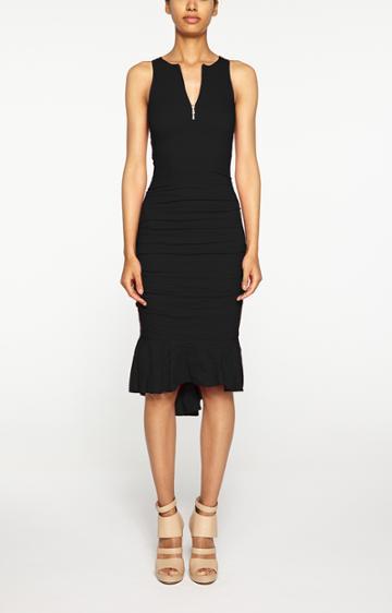 Nicole Miller Runway Zip Dress - Bk