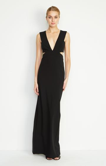 Nicole Miller Carlessa Cut Out Gown