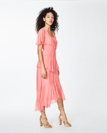 Nicole Miller One Shoulder Asymmetrical Dress