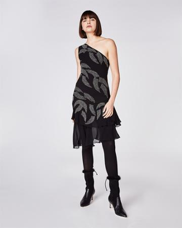 Nicole Miller Embellished Wing Dress