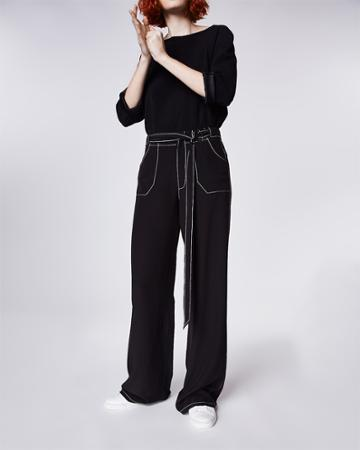 Nicole Miller Silk Top Stitch Pant