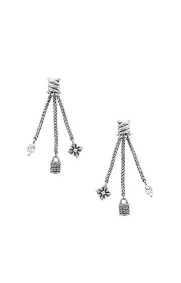 Nicole Miller Triple Charm Drop Earrings