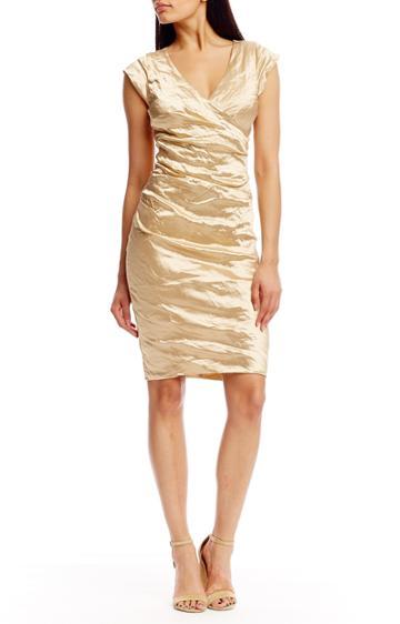 Nicole Miller Beckett Techno Metal Dress-go