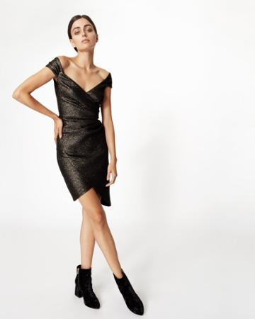 Nicole Miller Stefanie Glitter Knit Dress