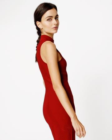 Nicole Miller Ribbed Knit Dress