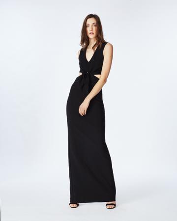 Nicole Miller Jersey Tie Front Gown
